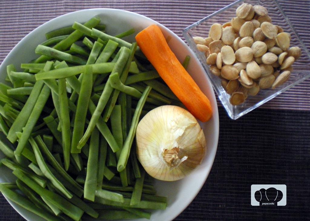 Ensalada de judias verdes con almendras