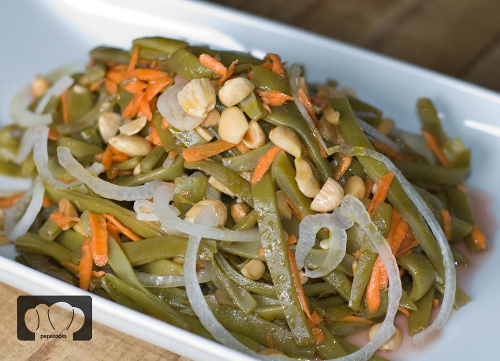 Ensalada de jud as verdes y almendras pepa cooks - Ensalada de judias verdes arguinano ...