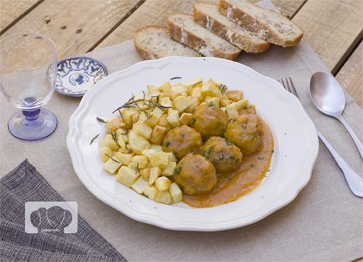 receta de albóndigas a la española