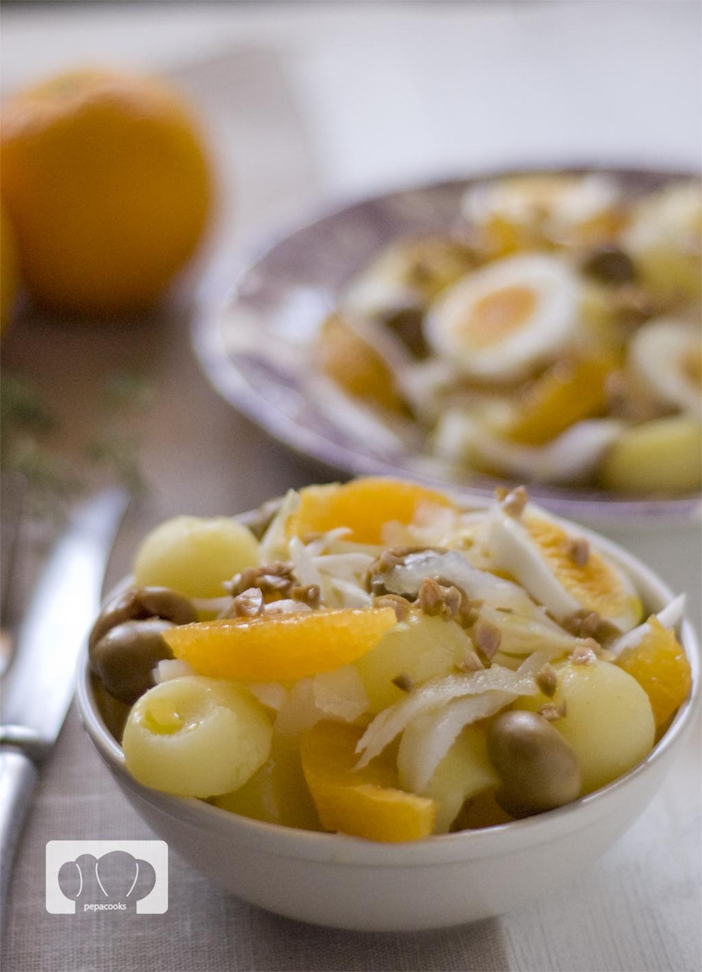 receta de ensalada malgueña