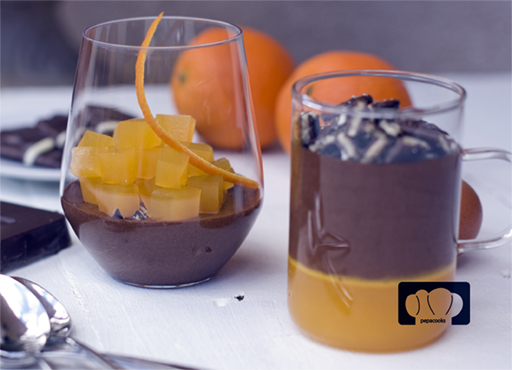 mousse de chocolate y naranja