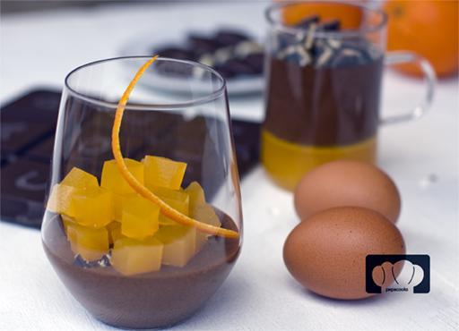 mousse de chocolate y naranja