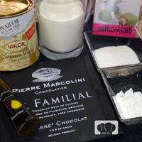 helado de chocolate negro con aceite de oliva y pimienta