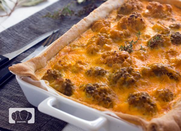 tarta de coliflor y patata