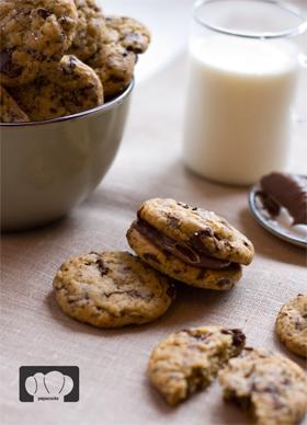 receta de cookies con trocitos de chocolate