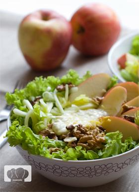 receta de ensalada waldorf