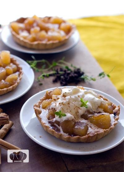 receta de tartitas de manzana en compota