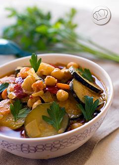 receta de verduras al curry con garbanzos