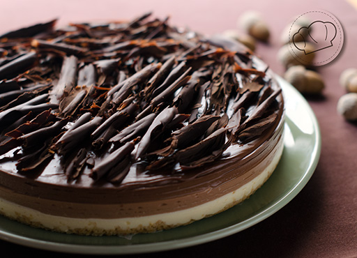receta de tarta tres chocolates