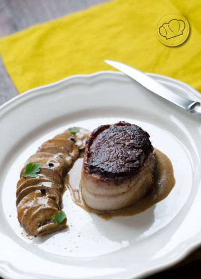 receta de solomillo de ternera con salsa de champiñones