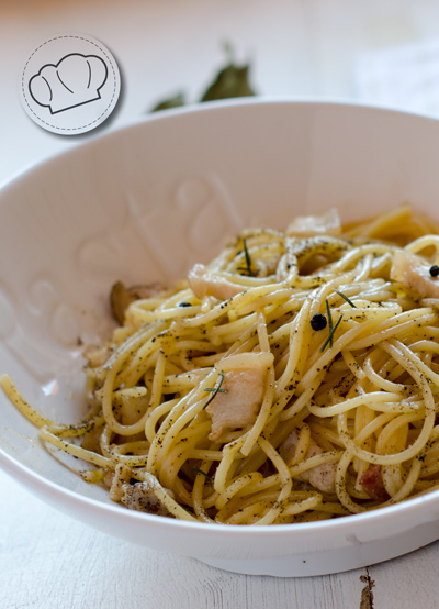 receta de Espagueti Carbonara. Video-receta