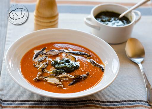 receta de Crema de tomates asados