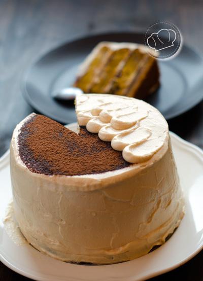 receta de Tarta de calabaza y crema de chocolate