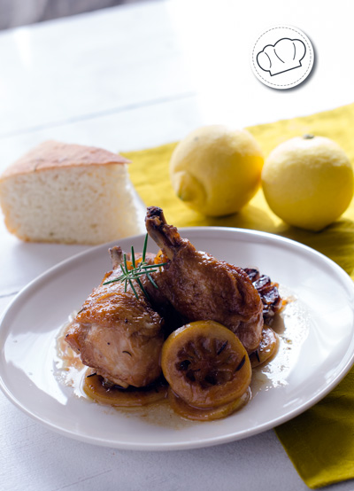receta de Pollo guisado al limón