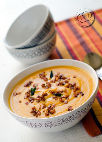 receta de Crema de zanahorias al curry