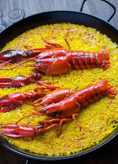 receta de arroz con bogavante
