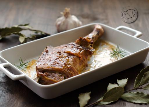 receta de paletilla o pierna de Cordero asado al horno