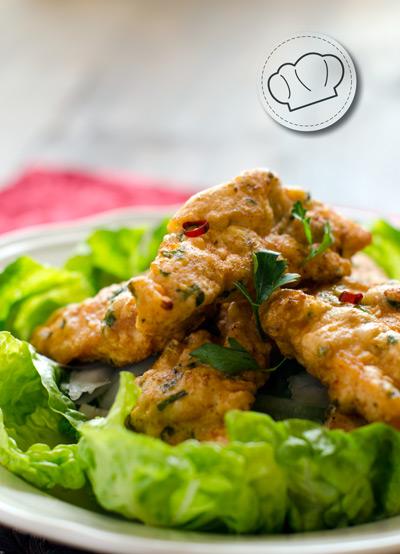 receta de pollo crujiente y picante