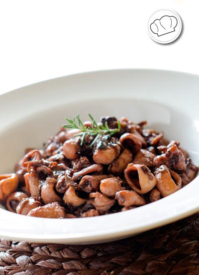 receta de Chipirones o calamares encebollados
