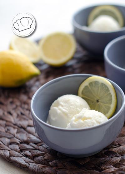 receta de helado de limon