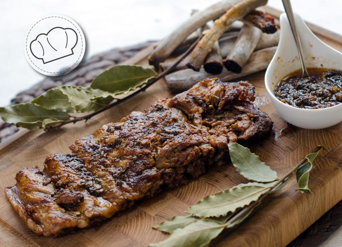 receta de Costillas de cerdo confitadas al horno
