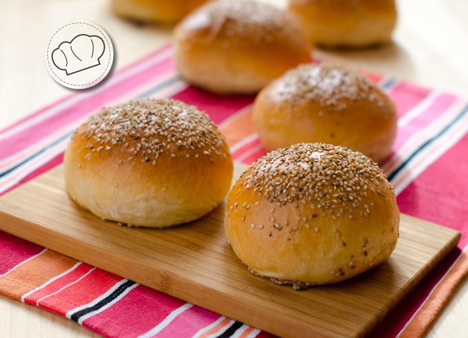 Receta de pan para hamburguesas