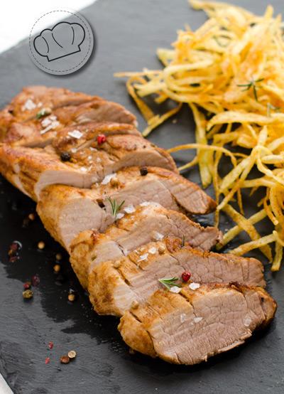 receta de Solomillo o lomo de cerdo tipo a la orza