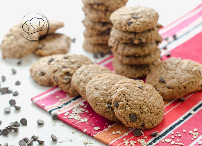 receta de galletas caseras de avena y chocolate en pepitas