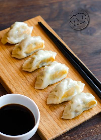 receta de Falso dumpling de cerdo, col y cebolleta
