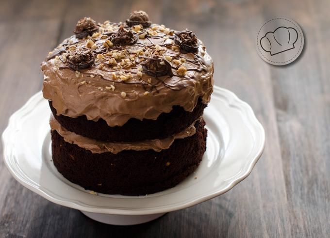 receta de tarta de chocolate y nocilla o nutela